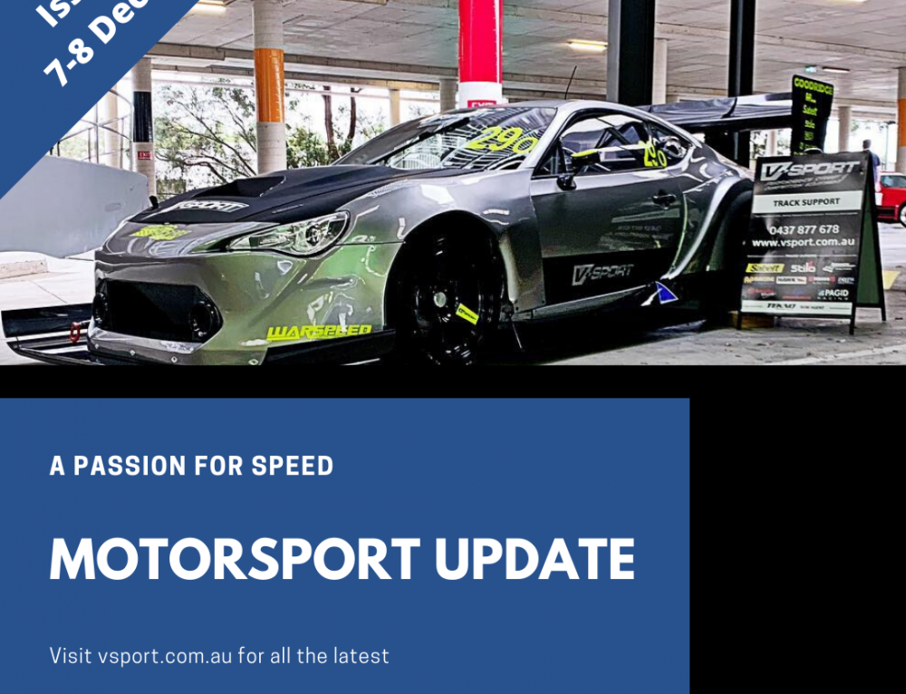 Motorsport weekend update: 7-8/12/2019
